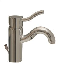 Venus single-hole, single-lever lavatory faucet with pop-up waste.