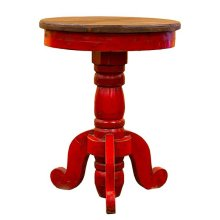 Red/Walnut Recepcion End Table