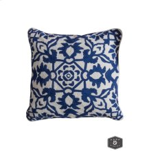 CAROLINE PILLOW- NAVY  Hand Embroidered Wool on Cotton  Down Feather Insert