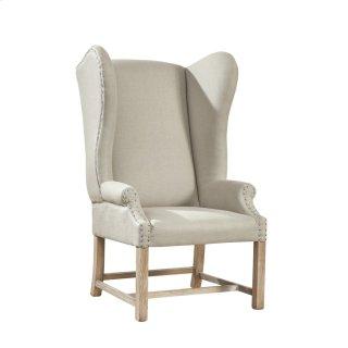 Grand Linen Wingback Chair