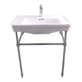 """Drew 30"""" Console with Brass Stand - Single-Hole / Polished Chrome"""