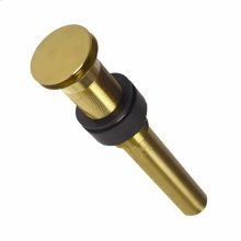 """DR130 1.5"""" Push to Seal Dome Drain in Brushed Gold"""