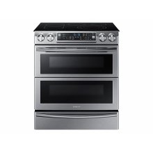 5.8 cu. ft. Slide-In Electric Flex Duo Range with Dual Door (This is a Stock Photo, actual unit (s) appearance may contain cosmetic blemishes. Please call store if you would like actual pictures). This unit carries our 6 month warranty, MANUFACTURER WARRANTY and REBATE NOT VALID with this item. ISI 33781