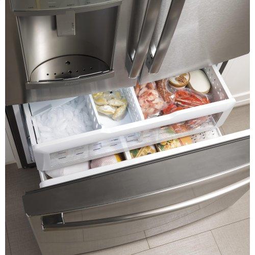 GE® 27.8 Cu. Ft. French-Door Refrigerator with Door In Door Quick Access