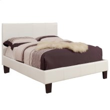 """Volt 60"""" Queen Platform Bed in White"""