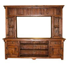 Walnut 2 PC TV Wall Unit