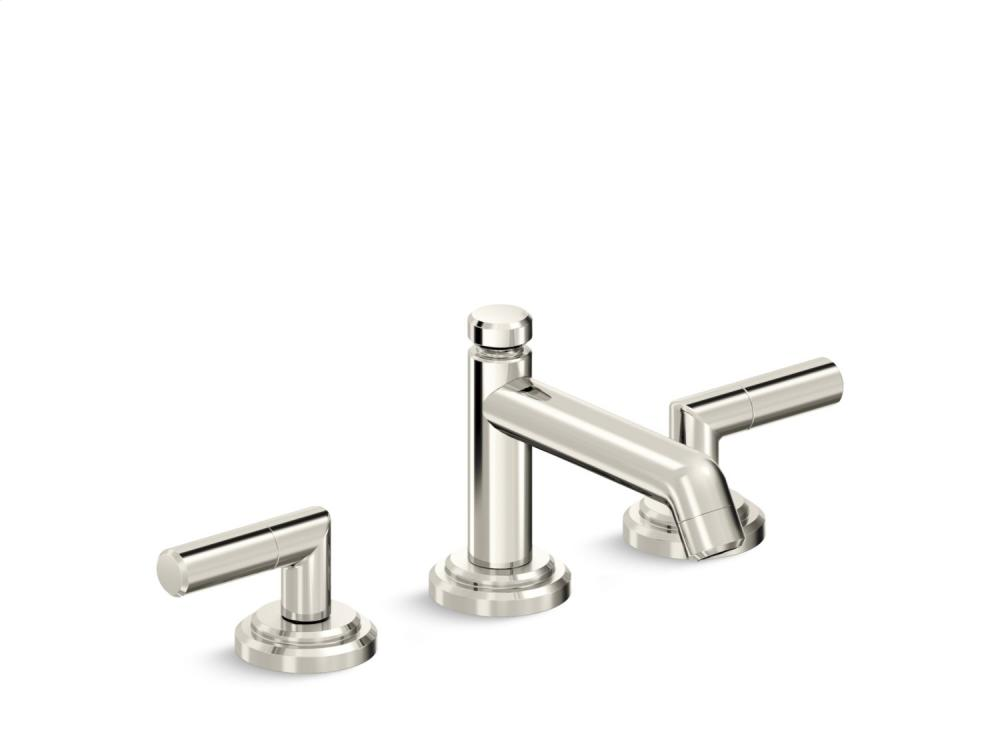 Sink Faucet, Low Spout, Lever Handles - Nickel Silver