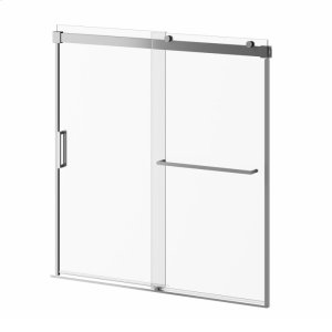 "60"" X 60"" Sliding Shower Doors for Bathtub With Towel Bar - Chrome Product Image"