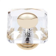 24k Gold 50 mm Square Crystal Knob