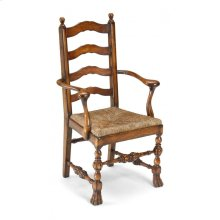 Walnut Ladder Back Chair with Lion's Paw Feet (Arm)