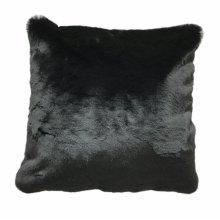 Chinchilla Faux pillow- Black Rug