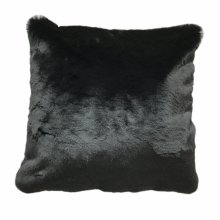 Chinchilla Faux pillow- Black Rug