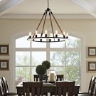 Encircle Chandelier in Brown Product Image