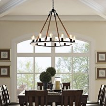 Encircle Chandelier in Brown