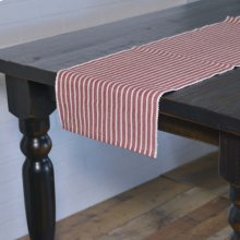 Harmony Red Ribbed Runner 13x72