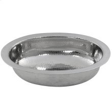 Hand Hammered Stainless Steel Oval Undermount Sink