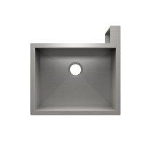 "SocialCorner® 005301 - undermount with apron front stainless steel Kitchen sink , 23"" × 18"" × 10"" Right corner"