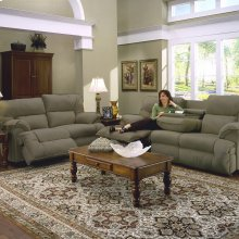 64644-47 Reclining Sofa W/Table - 8405-38 Fern