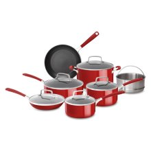 Aluminum Nonstick 12-Piece Set - Empire Red