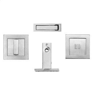 Square flush pull privacy kit inc. SP51 & 2802, Antique Brass Dark Product Image