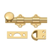 "4"" Dutch Door Bolt, HD - PVD Polished Brass"