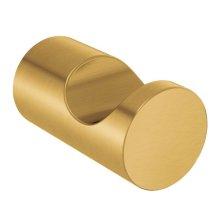 Align brushed gold single robe hook