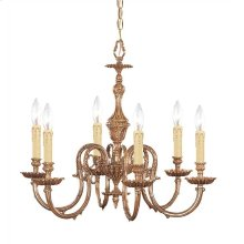 Novella 6 Light Olde Brass Chandelier