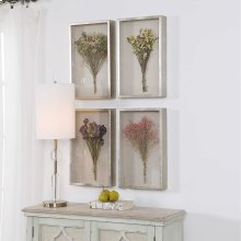 Summer Bouquets Shadow Box, S/4