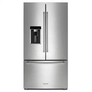"23.8 cu. ft. 36"" Counter-Depth French Door Platinum Interior Refrigerator with PrintShield™ Finish - Stainless Steel with PrintShield™ Finish Product Image"