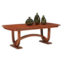 Double Pedestal Table With 4-Leaves