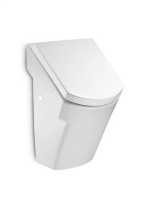 White Vitreous china urinal with cover and back inlet Product Image