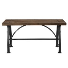 Rosebank Wood & Metal Dining Bench