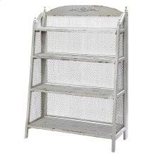 Lydia Pale Grey and Chicken Wire Bookshelf