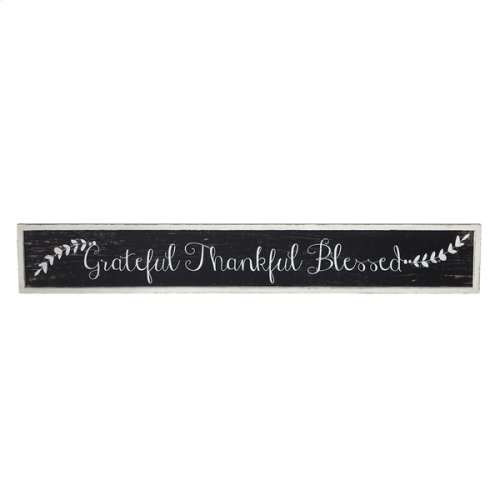 """Grateful, Thankful, Blessed"" Wall Decor"
