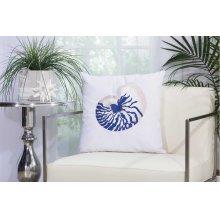 """Outdoor Pillow L1298 White 18"""" X 18"""" Throw Pillow"""