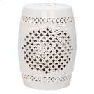 Quatrefoil Garden Stool - Cream Product Image