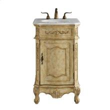 21 In. Single Bathroom Vanity Set In Antique Beige