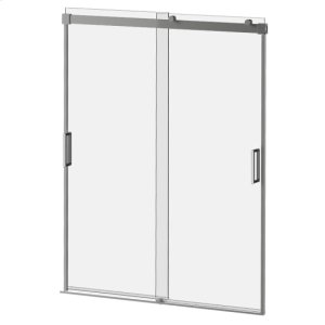"""60"""" X 36"""" X 77"""" Sliding Shower Door With Clear Glass - Chrome Product Image"""