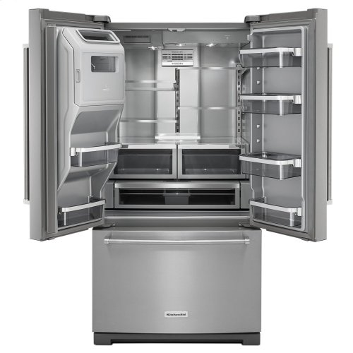 26.8 cu.ft. 36-Inch Width Standard Depth French Door Refrigerator, Exterior Ice/Water Platinum Interior - Stainless Steel