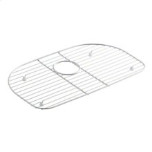 Cinch™ D-Bowl Bottom Basin Rack - Stainless Steel
