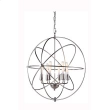 """1453 Vienna Collection Chandelier D:25"""" H:27"""" Lt:6 Polished Nickel Finish"""