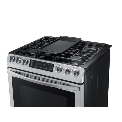 5.8 cu. ft. Convection Slide-in Gas Range in Stainless Steel