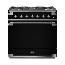 AGA Elise 36 Dual Fuel Matte Black with Chrome trim