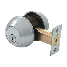 Double Deadbolt GR1 - Brushed Chrome