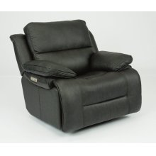 Apollo Leather Power Gliding Recliner with Power Headrest