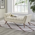 Response Medium Upholstered Fabric Bench in Beige Product Image