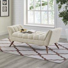 Response Medium Upholstered Fabric Bench in Beige
