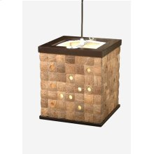 (LS) New hampton Square Pendant-Natural (8x8x9)