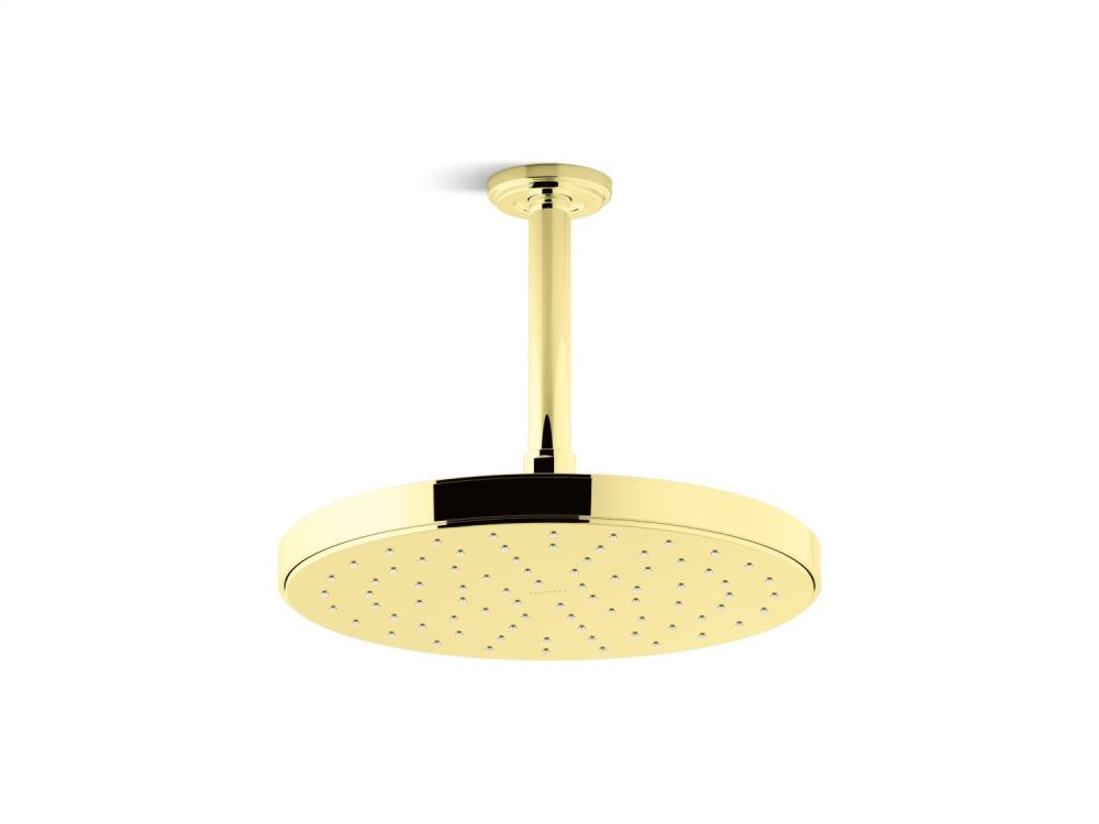 Air-Induction Rain Showerhead - Unlacquered Brass