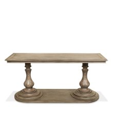 Corinne Rectangular Sofa Table Sun-drenched Acacia finish
